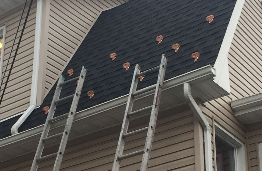 Asphalt Roof with Ice Bracket Installation, Monclair NJ 2014