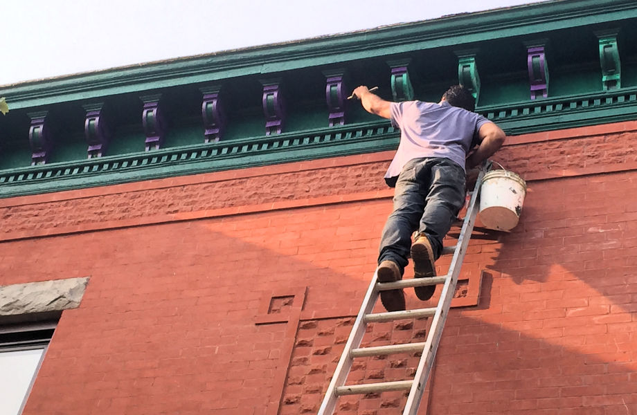 Roof Molding Installation and Painting, Newark, NJ 2016